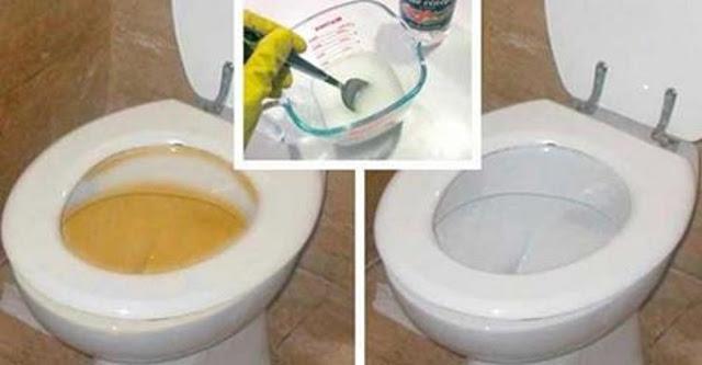 Esta mezcla casera dejará tu inodoro brillando de limpio en unos minutos!